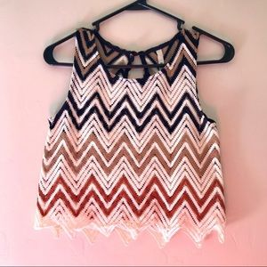 Tops - Mind Code Size Small Crochet Knit Crop Top
